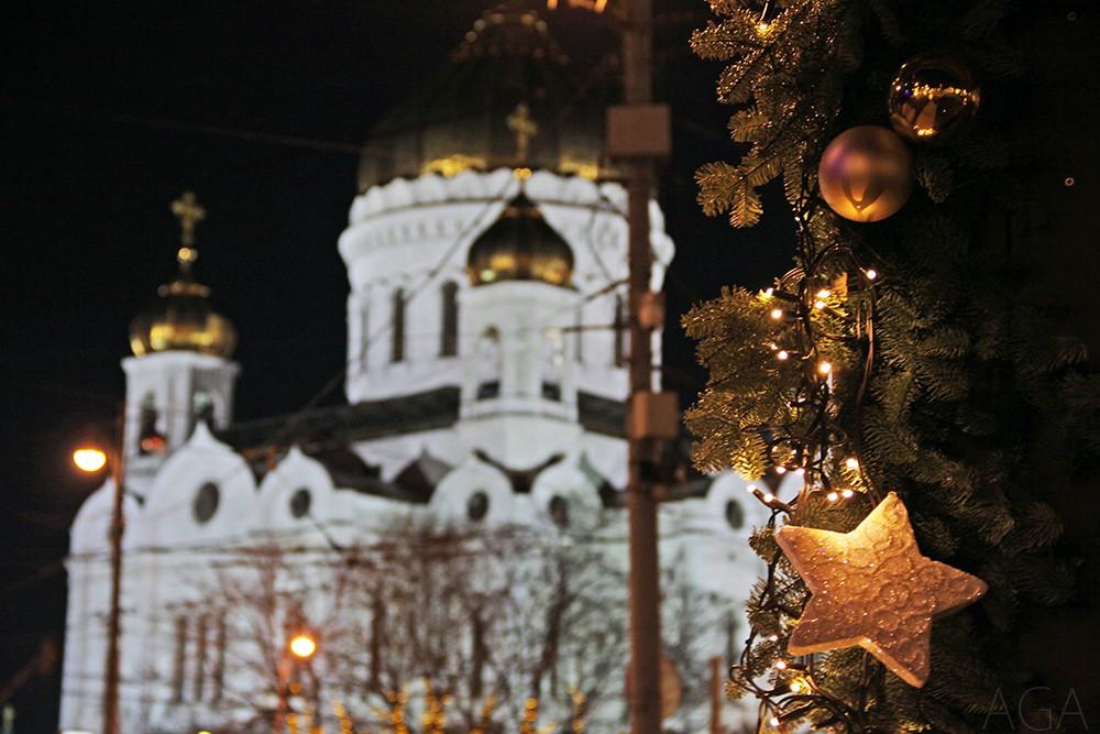 Рождественское украшение Москвы