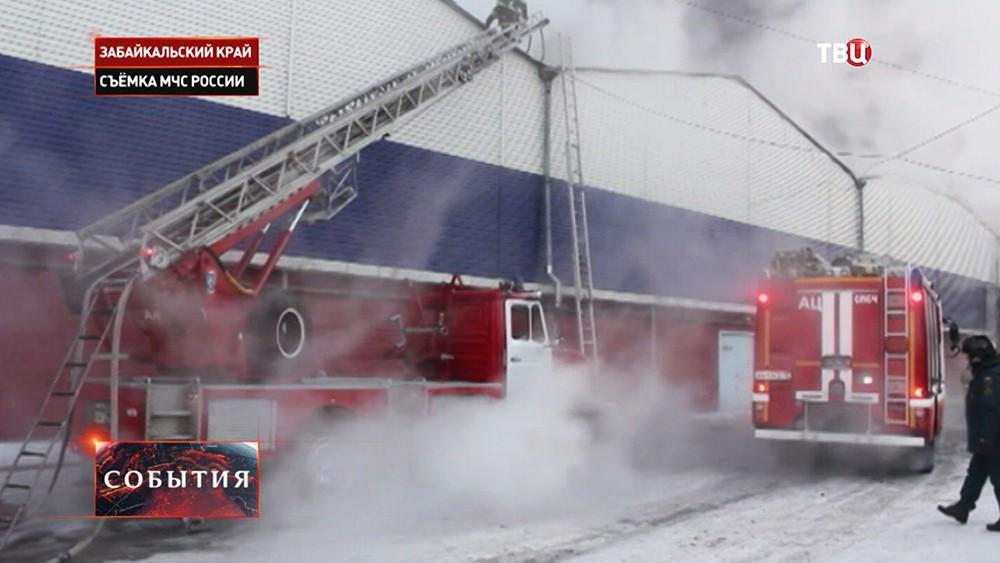 "Пожар склада на базе ""Спецторга"" в Чите"