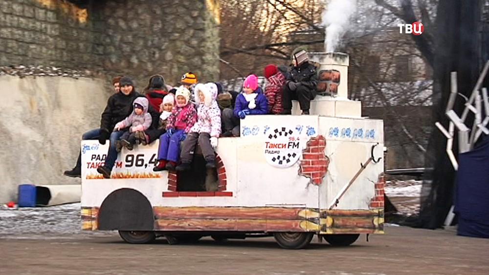 Новогоднее представление каскадеров для детей