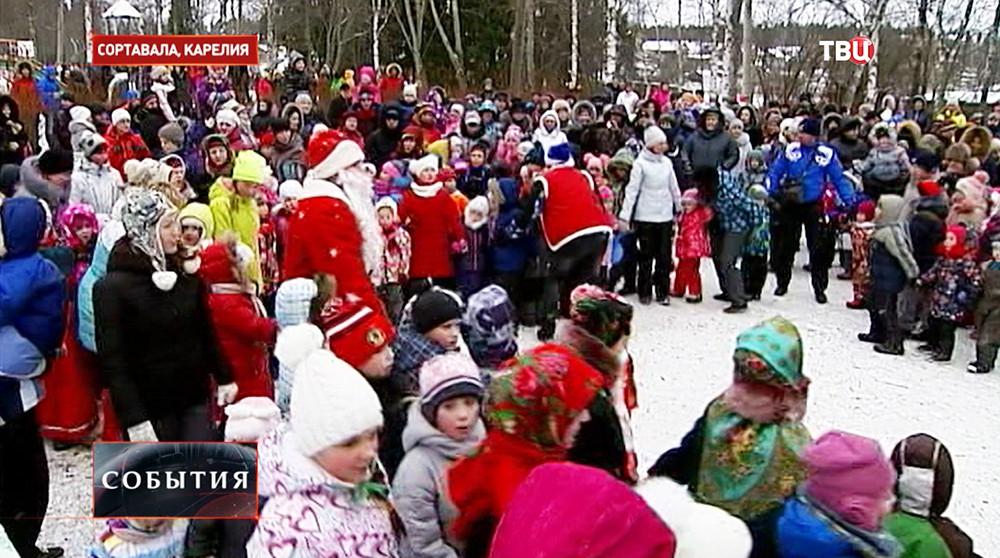 Новогодние гуляния в Сортавале