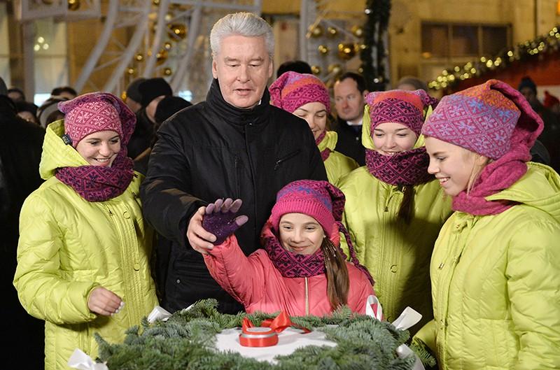 Мэр Москвы Сергей Собянин с детьми