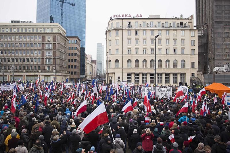 Акция протеста в Польше