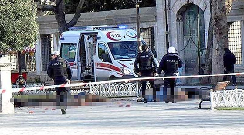 Последствия взрыва в Стамбуле