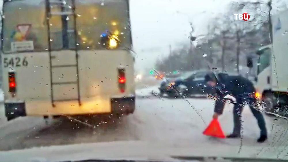ДТП, как последствие снегопада