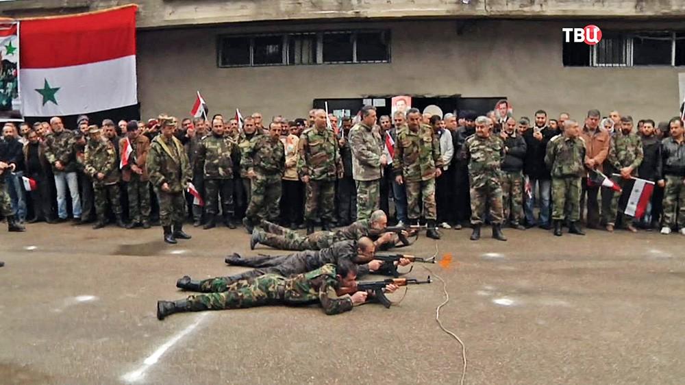 Тренировочный лагерь народной армии Сирии