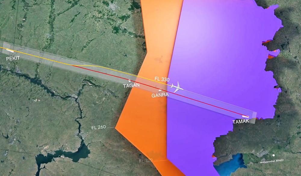 Моделирование полёта малайзийского самолета Boeing 777 советом по нацбезопасности Нидерландов
