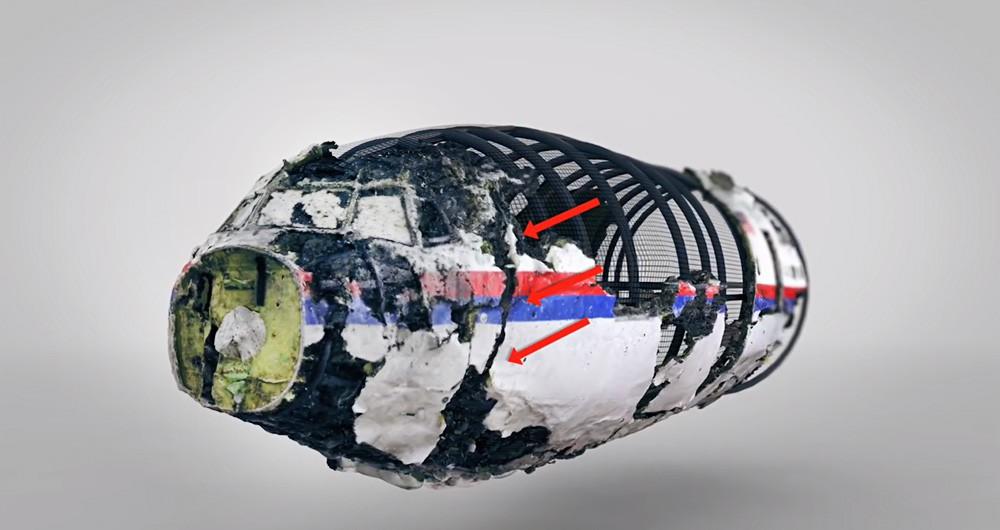3D-модель фюзеляжа малайзийского Boeing 777 Советом по нацбезопасности Нидерландов