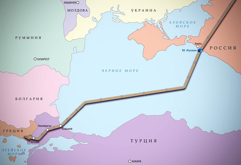 """Проект строительства газопровода """"Турецкий поток"""""""