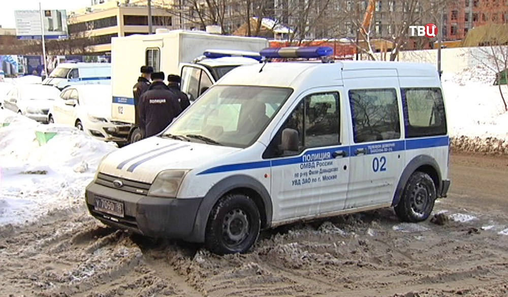 Машина полиции УВД ЗАО по Москве
