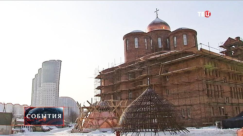 Cтроительство храма в честь преподобного Сергия Радонежского на Ходынском поле