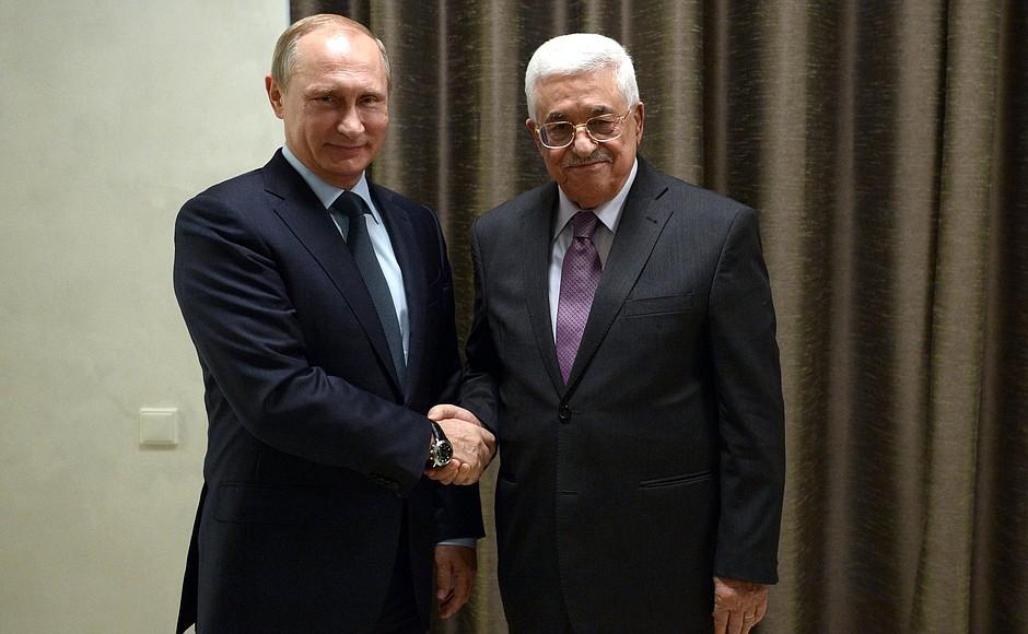 Встреча президента России Владимира Путина с главой Палестины Махмудом Аббасом