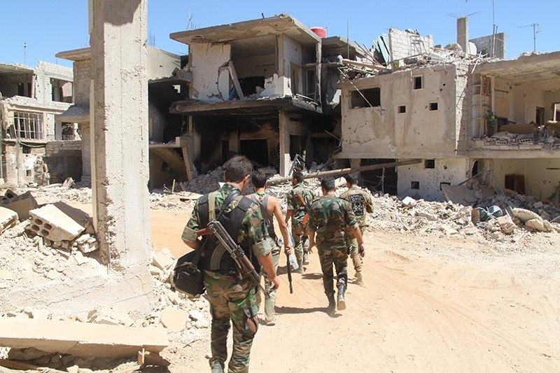 Позиция сирийских войск в районе города Сальма