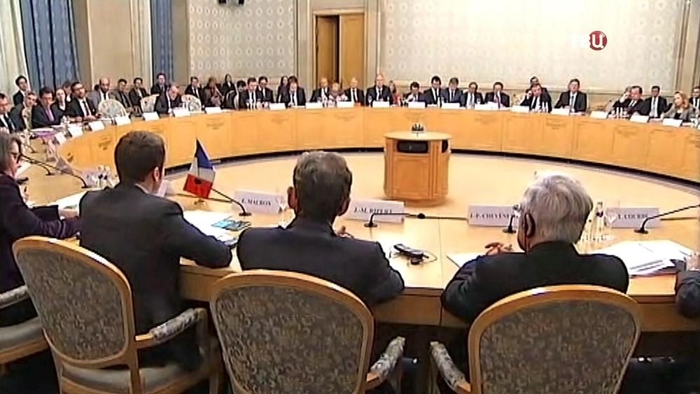 Встреча российско-французского совета по финансовым, промышленным и торговым вопросам