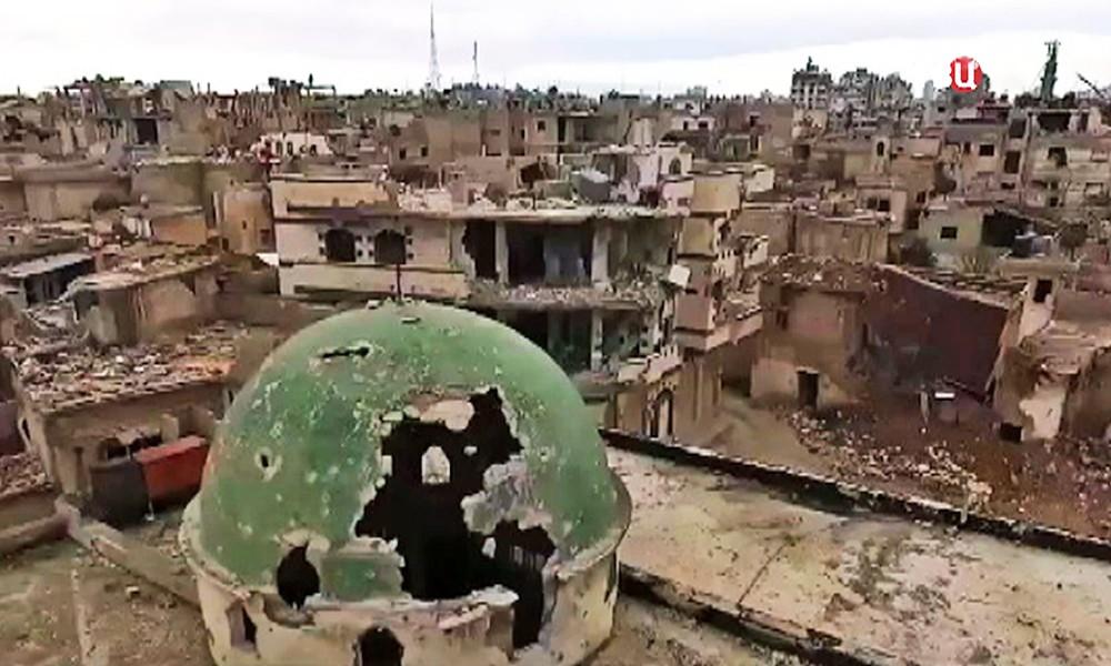 Руины сирийского города Хомс