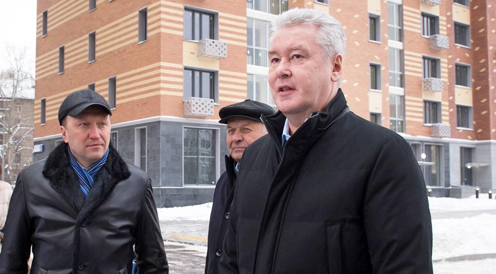 Сергей Собянин осматривает новостройки