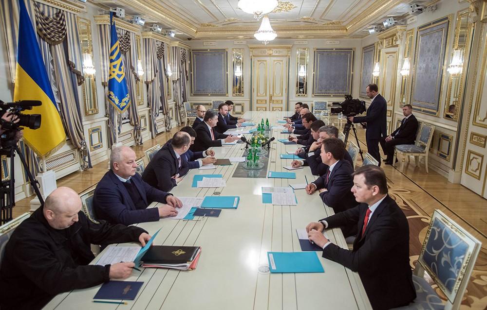 Президент Украины Петр Порошенко провел заседание
