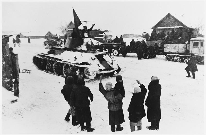 Деревня в районе Сталинграда, освобожденная в ходе наступления в декабре 1942 года
