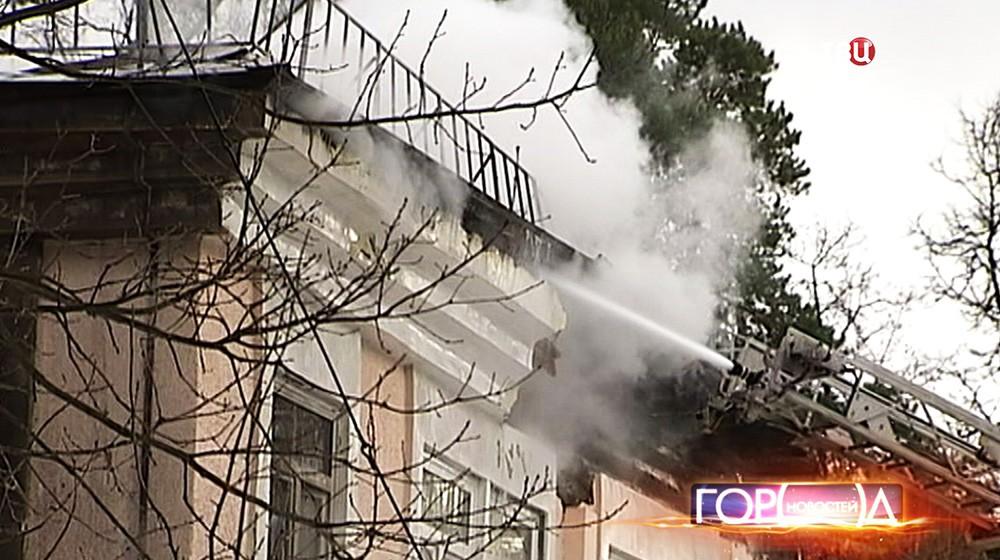 Последствия пожара в музколледже в Пушкине