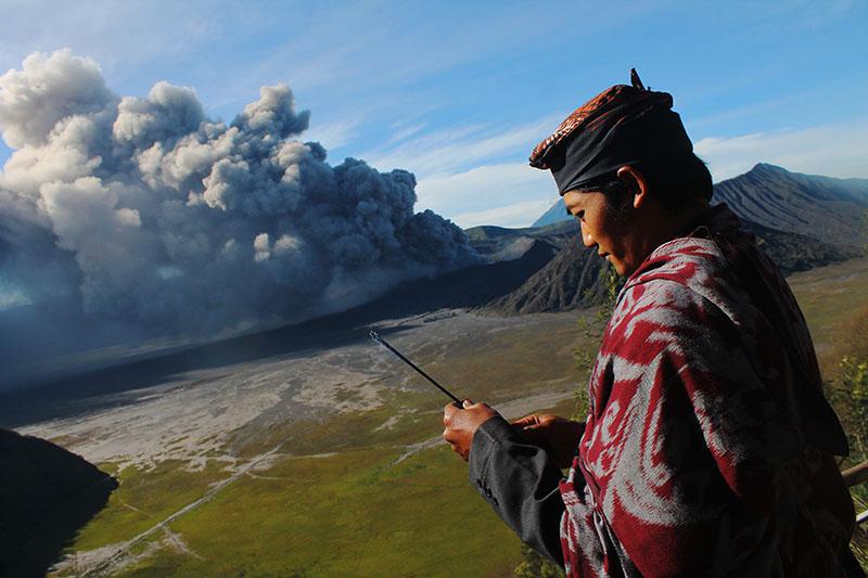 Извержение вулкана Сакурадзима в Японии