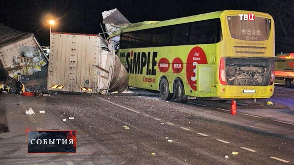 Последствия ДТП с участием грузовика и автобуса
