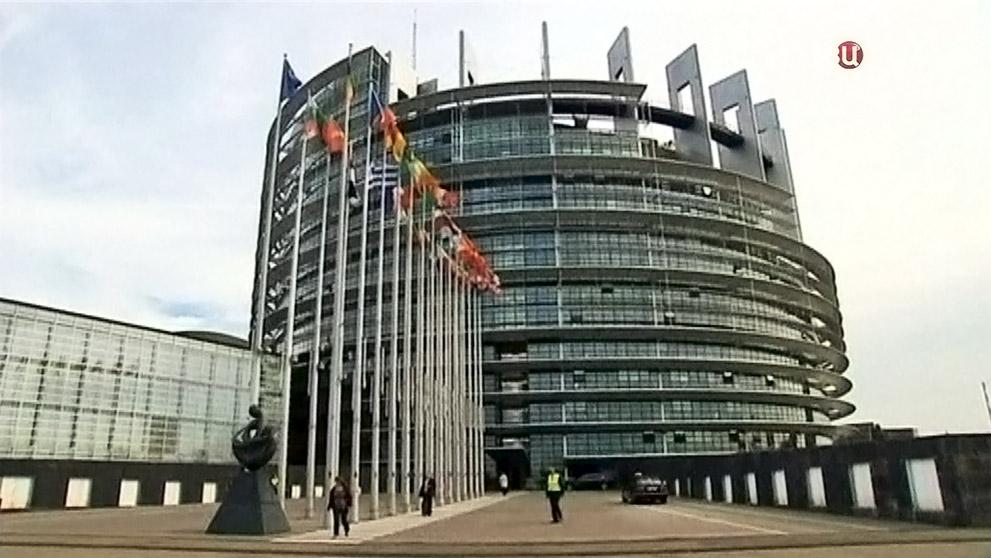 Здание Европарламента в Брюсселе