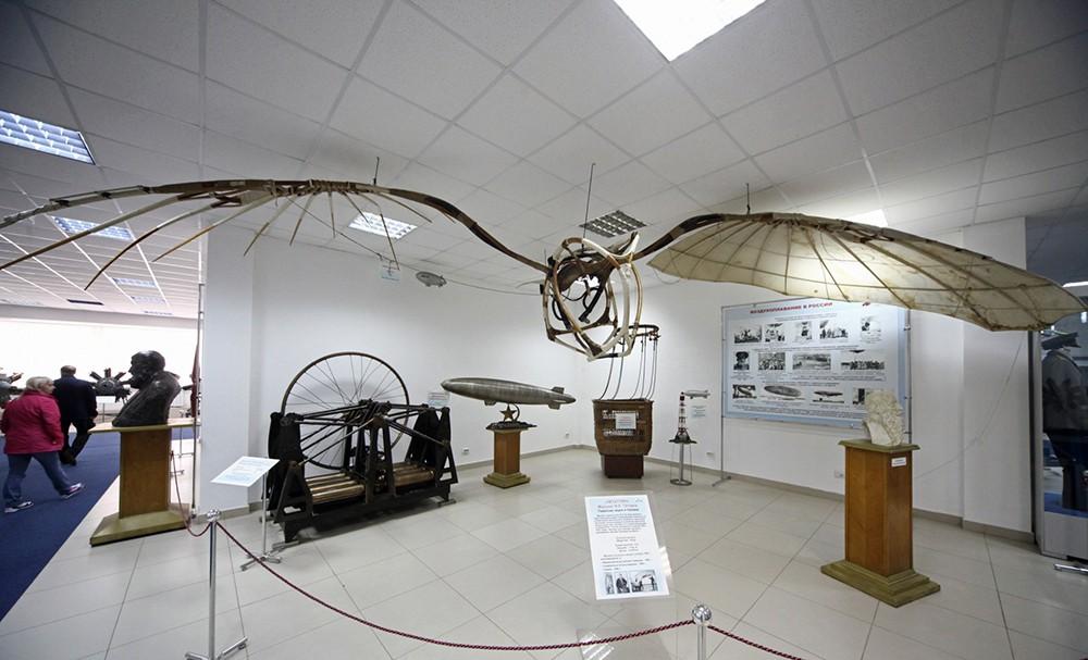 Экспонаты музея авиации в Монино