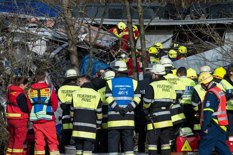 Cтолкновение поездов в Германии