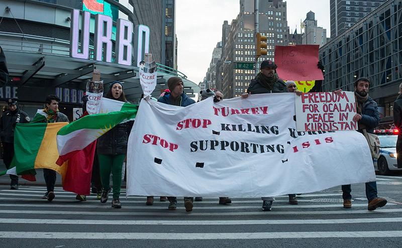 Акция протеста курдов в Турции