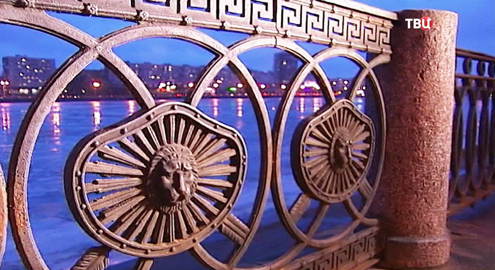 Медальоны в виде чугунных львиных морд