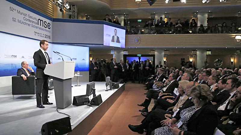 Дмитрий Медведев на Мюнхенской конференции по вопросам политики безопасности