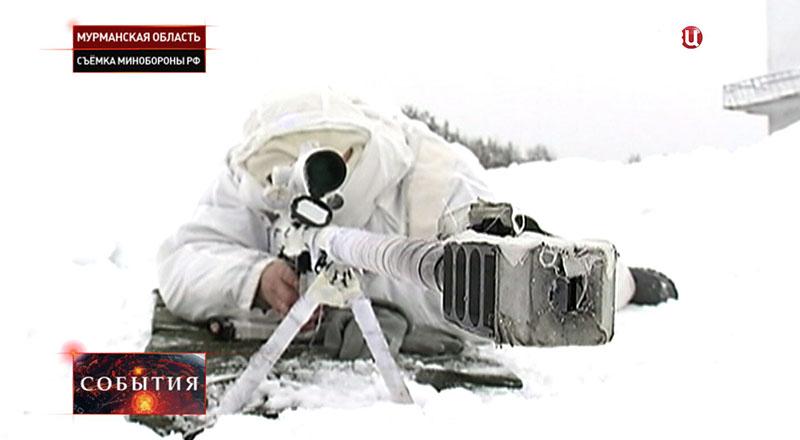 Снайперы арктической бригады Северного флота