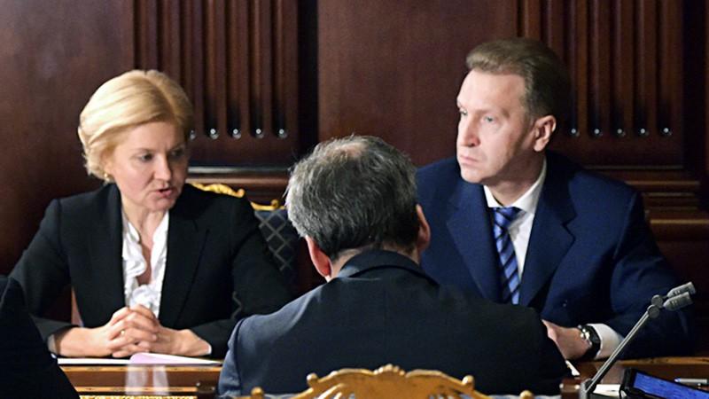 Ольга Голодец и Игорь Шувалов