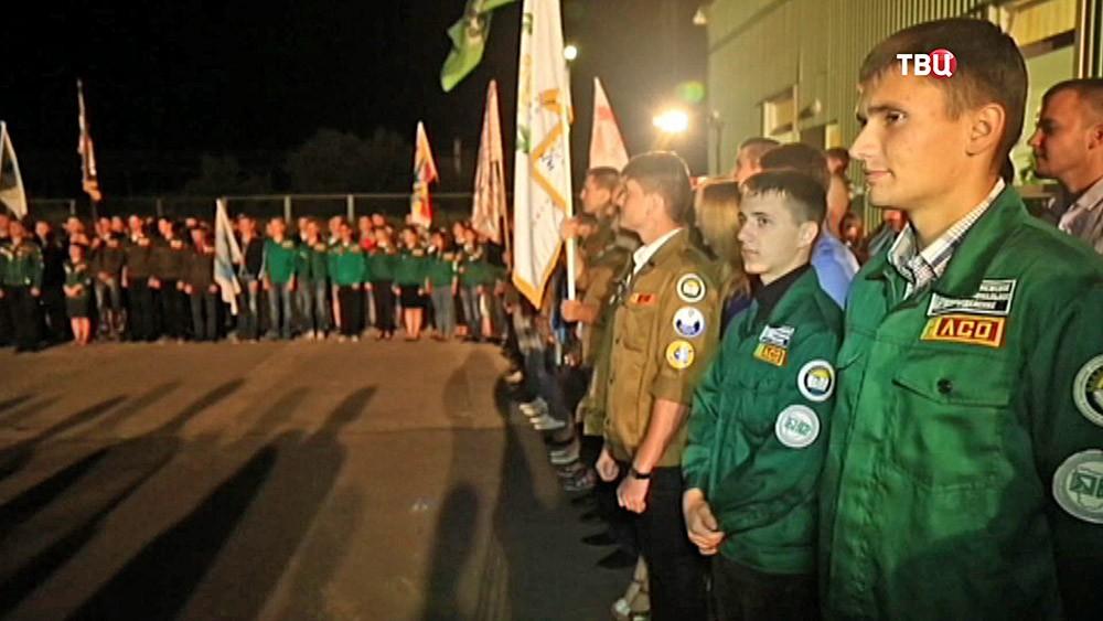 Участники студенческого отряда