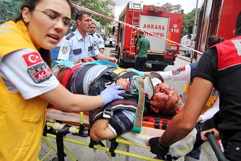 Последствия взрыва в Анкаре