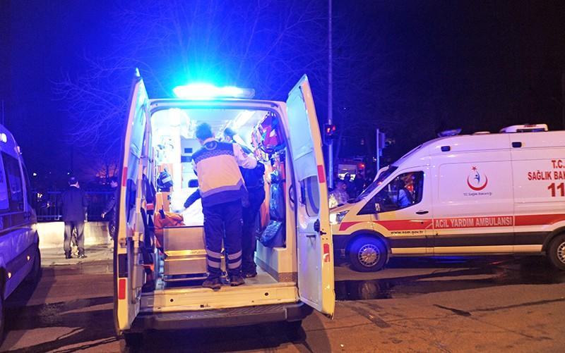 Машины скоро помощи Турции на месте происшествия
