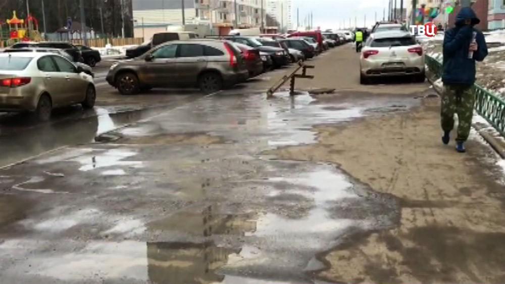 Сточные воды затопили канализацию