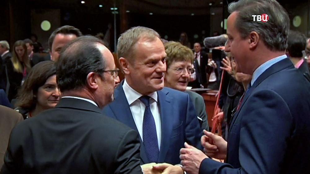 Франсуа Олланд, Дональд Туск и Дэвид Кэмерон