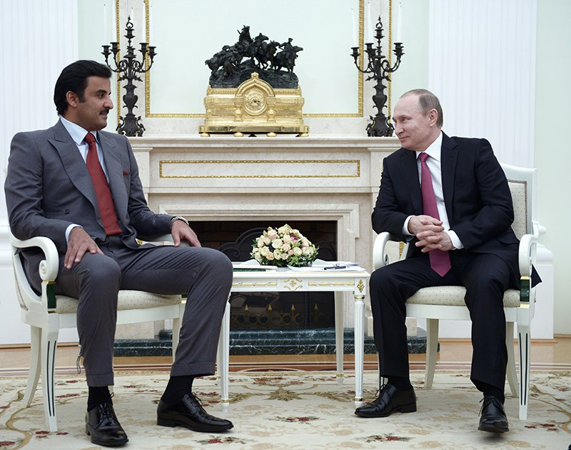 Президент России Владимир Путин и эмир государства Катар