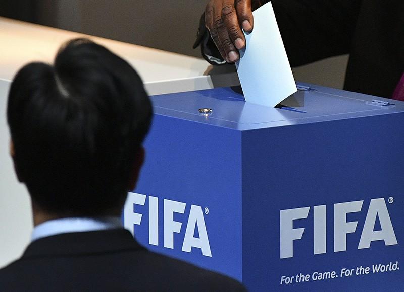 Голосование на выборах нового президента ФИФА