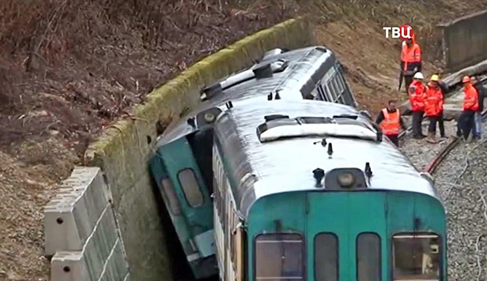 Авария на железной дороге в Италии