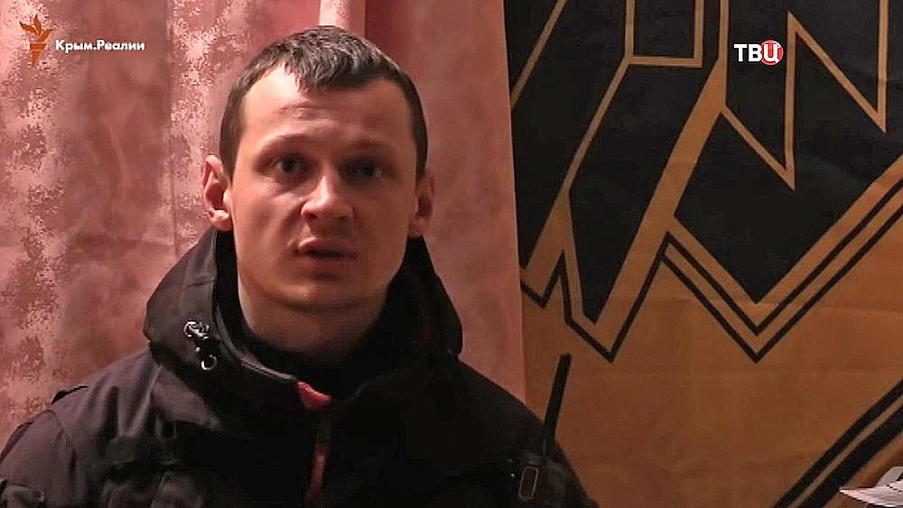 """Задержанный СБУ активист """"Азова"""" Станислав Краснов"""