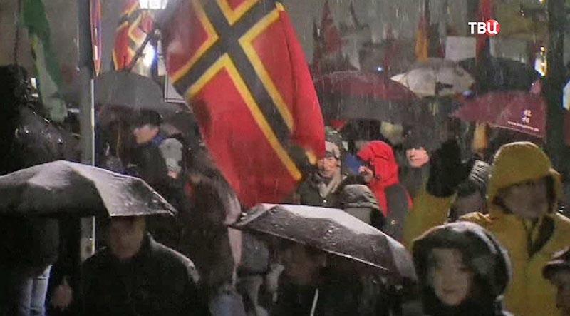Акция протеста в Норвегии