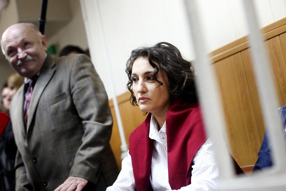 Виктория Павленко, обвиняемая в краже собаки-поводыря