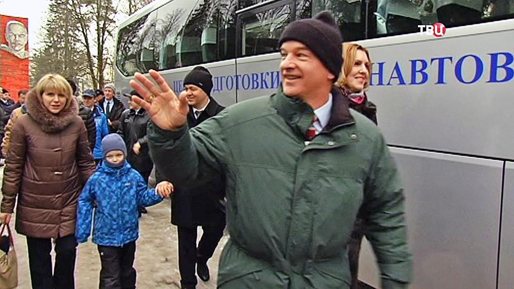 Члены нового экипажа МКС: Джеффри Уильямс и Олег Скрипочка