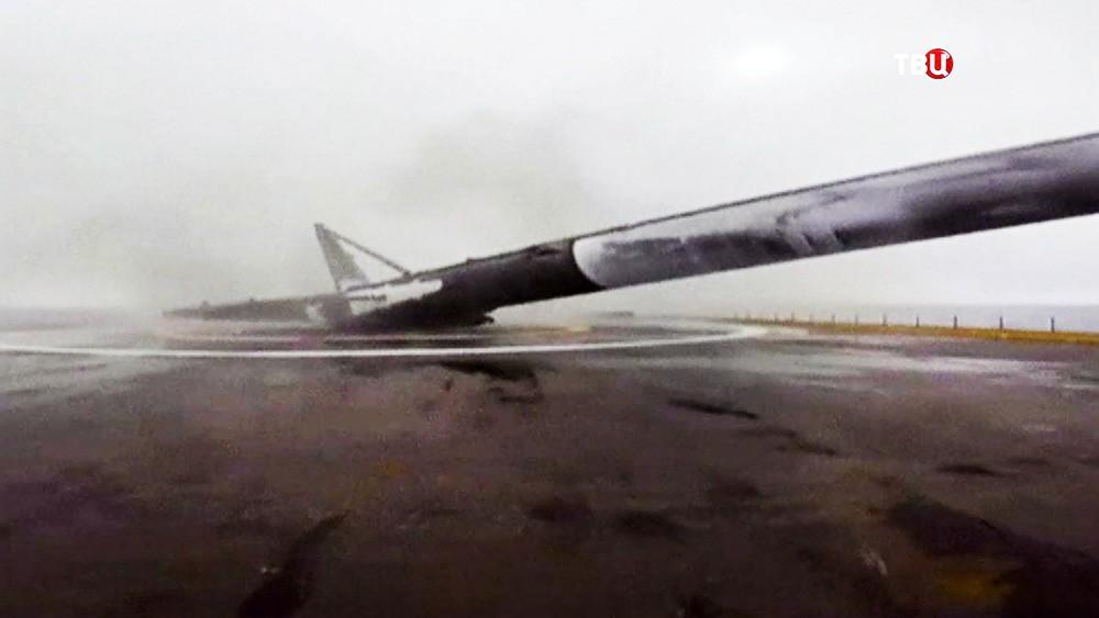 Падение ступени ракеты Falcon 9