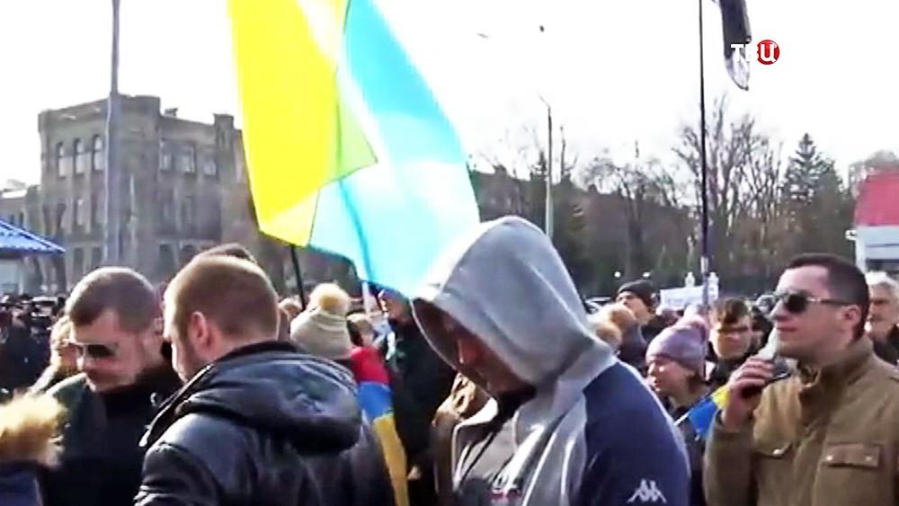 Митинг у здания посольства России в Киеве