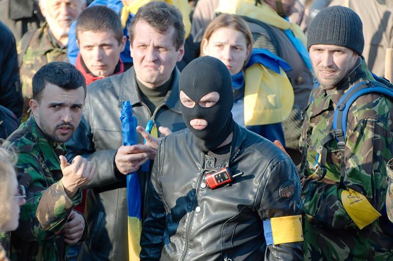 Митингующие у генконсульства России в Одессе