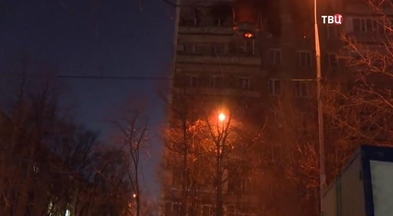 Пожар в доме на юго-востоке Москвы