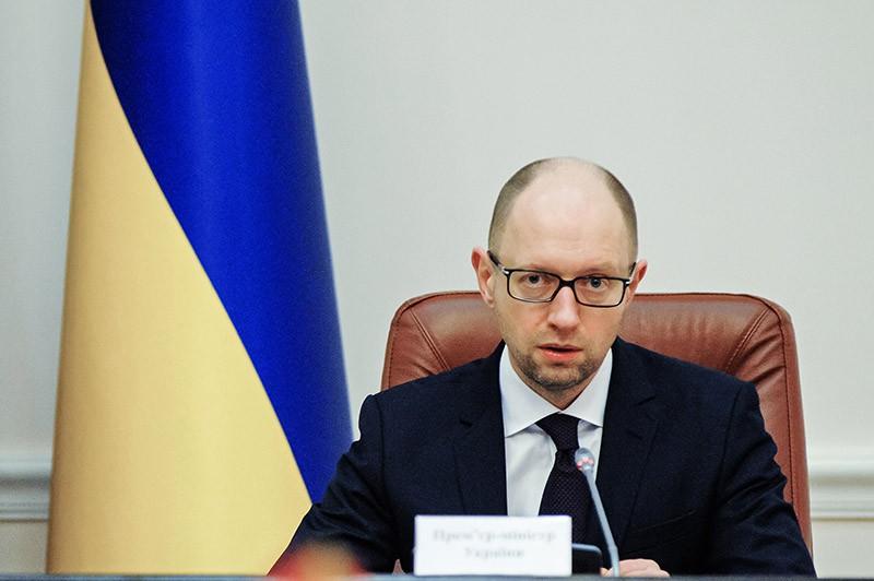 Премьер-министр Украины Арсений Яценюк на заседании кабинета министров Украины в Киеве
