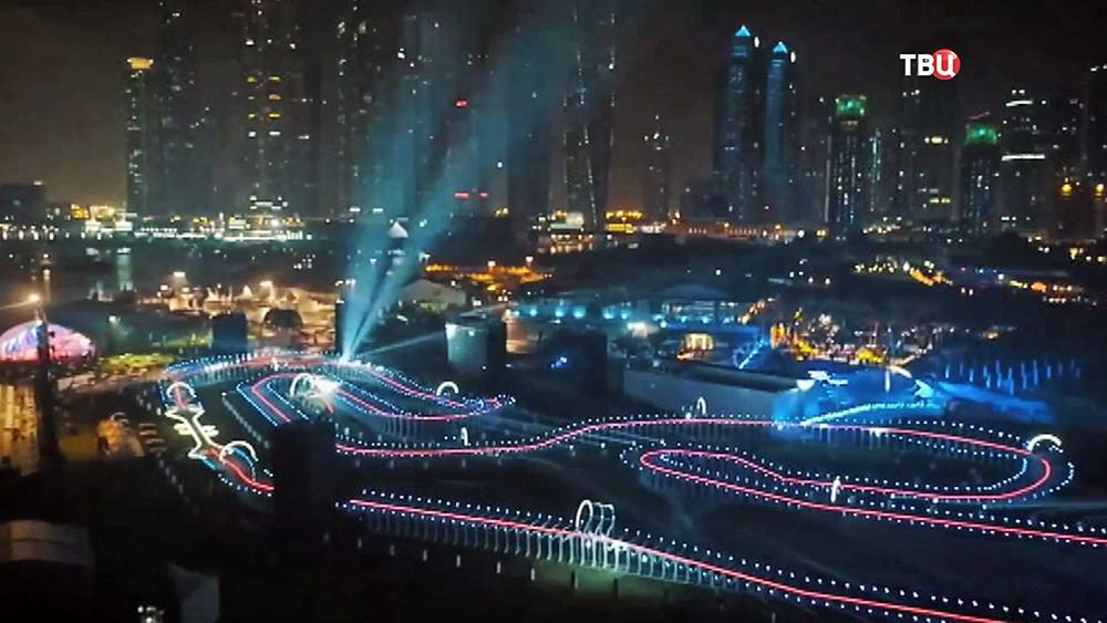 Гоночная трасса для беспилотников в Арабских Эмиратах